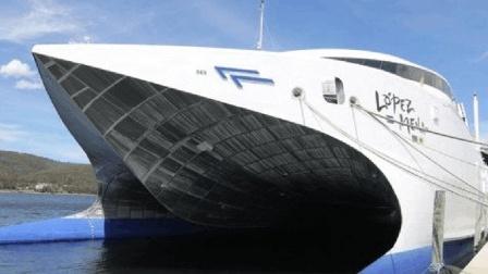 裝飛機引擎的輪船, 時速達110公里, 能承載上千人