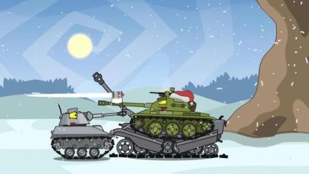 坦克世界搞笑动漫: 谁敢阻止我拿圣诞盒子? 是