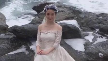清纯美女新娘为拍靓照, 这苦头可吃大了!