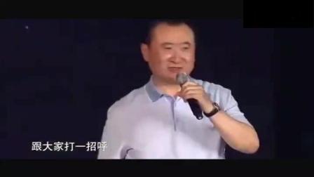 王健林不仅霸气, 偶尔幽默起来, 逗的台下大佬柳