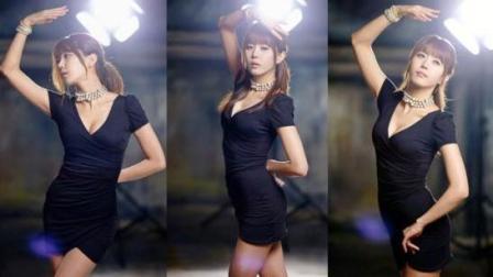 韩国女主播黑丝性感热舞, 这种的美女给你们当新