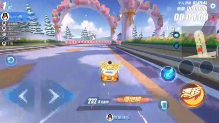 QQ飛車手游, 玫瑰之戀跑這樣超車一圈, 這怕是玩了個假飛車