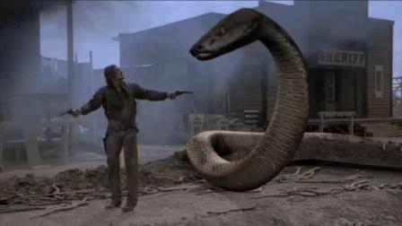 西部小镇遭大蟒蛇赶尽杀绝, 酒吧女徒手大战蛇群
