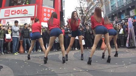 美女街头短裤热舞 上帝视角 经典呈现上和下