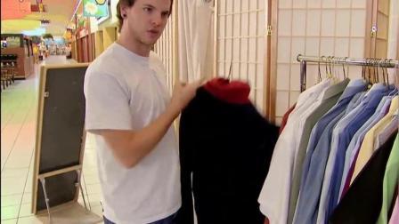 搞笑恶作剧: 神奇的一件衣服 男人穿上秒变美女