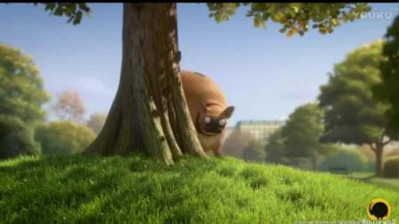 搞笑创意动画: 当这个世界动物都变圆了, 那又一