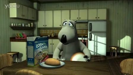 搞笑动画片倒霉熊之大战偷吃的小老鼠结局很暖