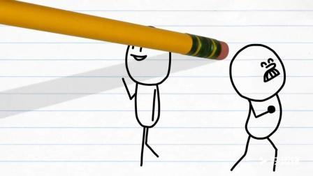 铅笔人搞笑幽默动画22: 这是我的帽子