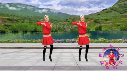 点击观看《蓝天云广场舞 新年喜庆舞《狗年大吉》附教学口令》