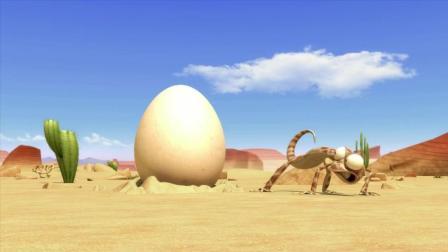 沙漠绿洲搞笑动画, 这个鸡蛋的智商也太高了吧