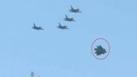 疑似出动大批飞机拦截UFO? 这东西不像地球造!