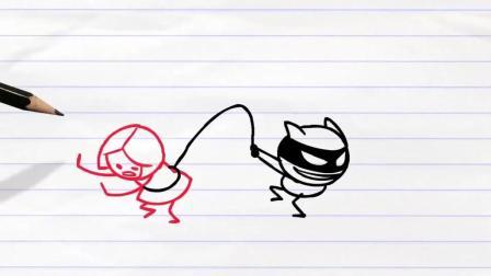 铅笔人搞笑幽默动画62: 发火的妹子