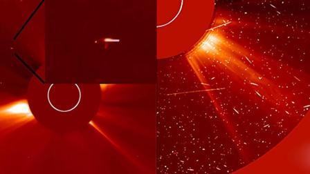 太阳附近聚集了大量地球大小的UFO, 似乎在排队加