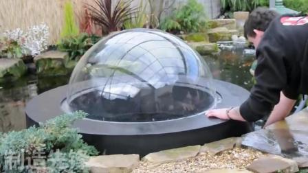 牛人设计这样的设备, 装在后院的水池中, 整个庭