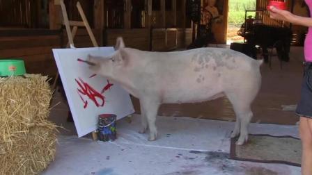 """""""猪加索""""的画卖近3万元"""