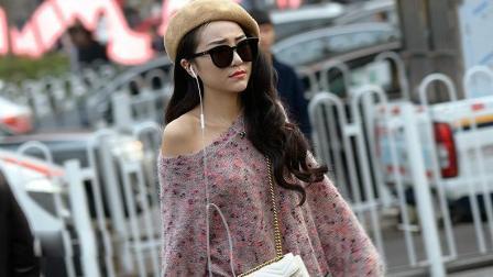 街拍: 时尚的美女打扮起来真漂亮!