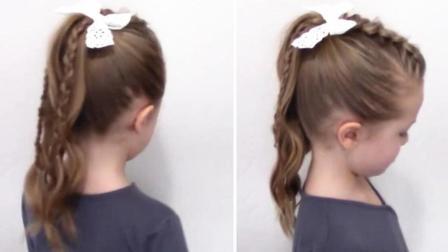 彩带女孩简单视频可以发型短发长发编发儿童幼儿编发接成短发吗图片