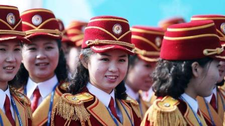 朝鲜最强美女啦啦队冬奥首秀! 在场记者纷纷鼻血