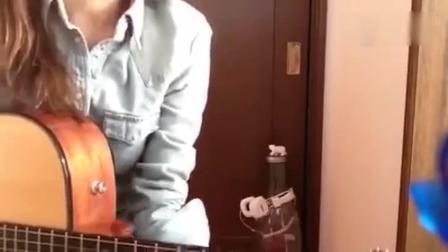 音乐吉他美女主播自弹吉他音乐MV