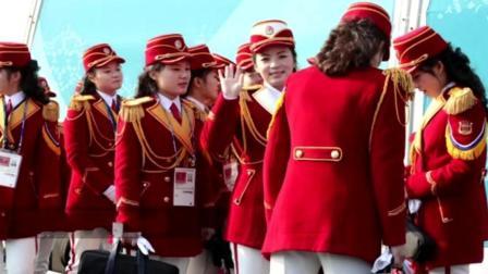 神秘的朝鲜女啦啦队形象气质俱佳 在韩国被称