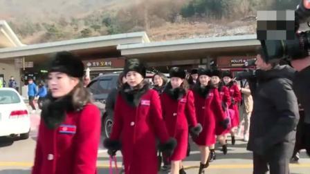 朝鲜天然美女啦啦队去韩国参加冬奥会, 比韩国女
