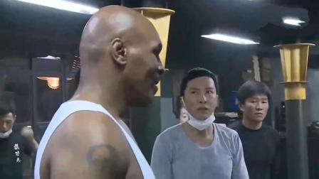 叶问3: 甄子丹和泰森打斗现场, 网友说甄子丹撑不了一分钟?