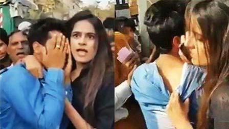 印度女大学生遭猥亵奋起反击