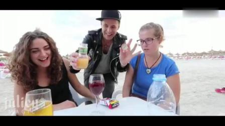国外搞笑视频: 沙滩顶级魔术恶搞路人