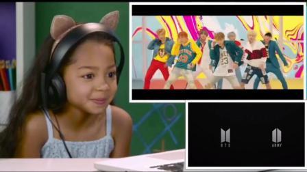 外国小孩观看防弹少年团 BTS - DNA MV 爆笑反应