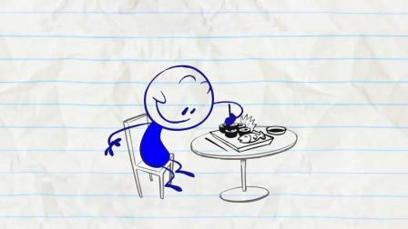 原创搞笑动画: 吃寿司