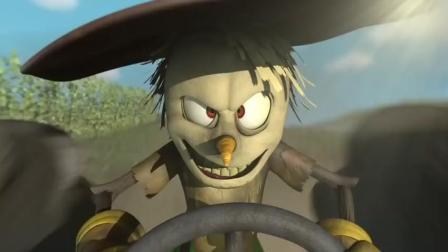 法国搞笑动画: 当一只顽强的乌鸦入侵稻田时, 稻