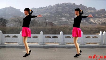 点击观看《阿真广场舞 想你想疯了 步子操健身》