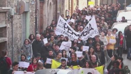 留学生游行声援无辜被殴同胞