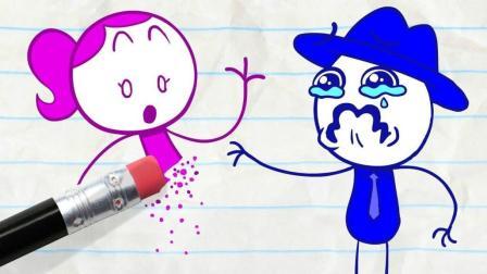 创意铅笔动画: 不可原谅的车, 伤心的铅笔人