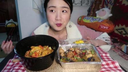 中国吃播, 美女吃泰式料理, 吃相不一般, 大口大