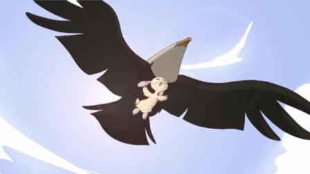 搞笑动画短片, 小羊为了体验飞翔的感觉, 千方百