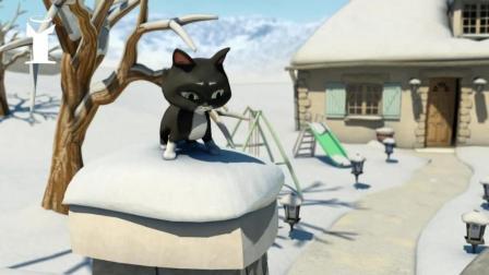搞笑动画短片, 小猫碰到这个熊孩子, 九条命都用