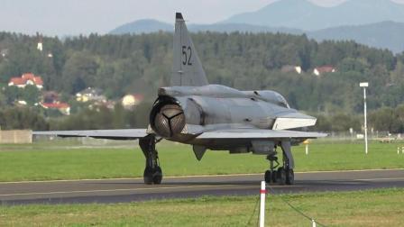 瑞典雷战斗机的发动机有三片挡板, 这个设计到底是什么原理?
