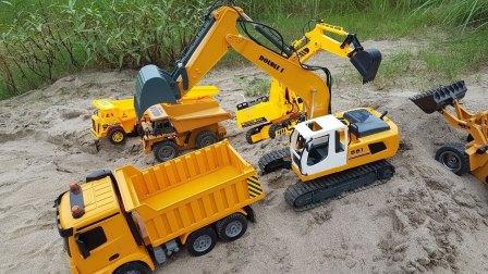 动画片视频 挖掘机挖土机视频表演大全儿童