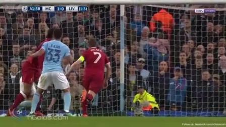 欧冠: 曼城1: 2利物浦 利物浦主客场双杀曼城 萨拉赫进球