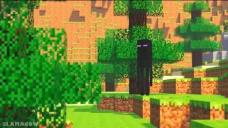 我的世界: mc搞笑动画, 偷偷入侵城堡的小黑来晚