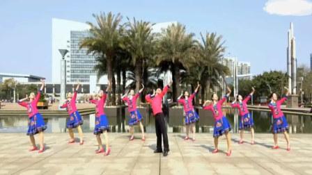 廖弟广场舞 情到花开 正背面示范 动作分解 中老年广场舞视频教学