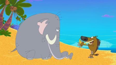搞笑动画: 鬣狗得到了大象的帮助, 鲨鱼哥又学会