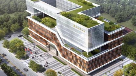 综合建筑体 景观 园区 规划设计汇报多媒体 房地