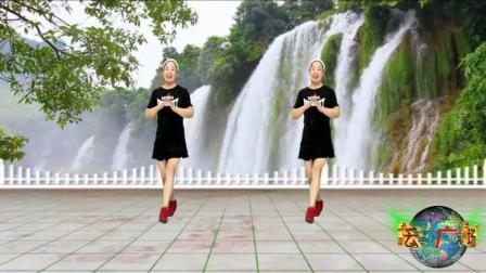 蓝天云广场舞  希望所有人都快乐 瘦腿健身32步教学分解