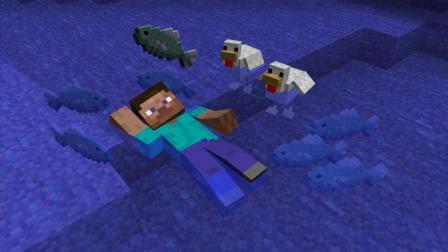 我的世界极限海岛制作私人地下养牛棚视频