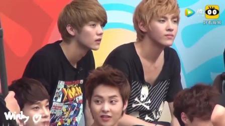 EXO录制综艺节目, 那时候的吴亦凡和鹿晗还坐在一