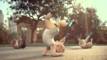 依云创意广告《旱冰宝宝》, 这么可爱很犯规的