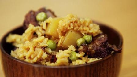 懒人版排骨土豆焖饭, 饭香味美的他超级简单