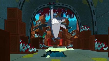 搞笑动画: 黑暗鬣狗降临, 鲨鱼哥义无反顾保护着